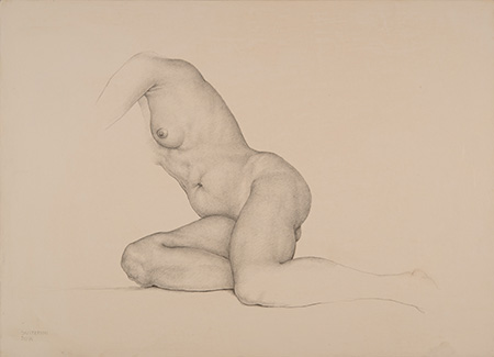 Nude - Technique: silverpoint drawing