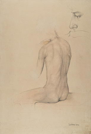 Study - Technique: silverpoint drawing