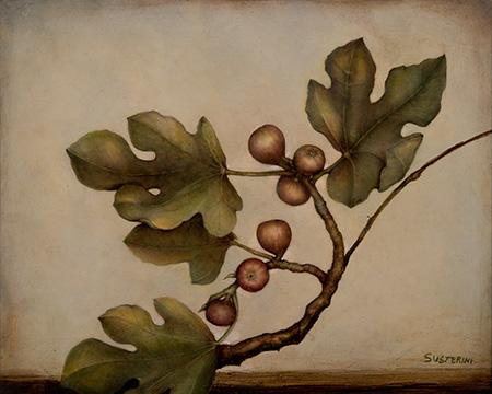 Figs - 40 x 50 - Mixed technique: pencil, encaustic pastel, with natural organic colours (2015)