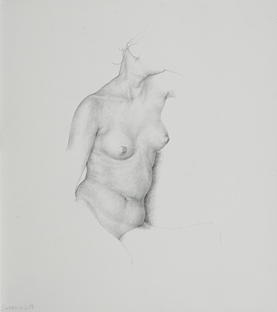 Nude - Technique: silverpoint drawing (2016)