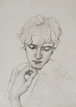 Tuning - Technique: silverpoint drawing (2016)