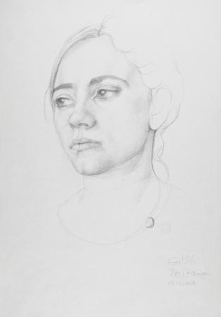 Studio pStudy - Technique: pencil (2017)